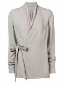 Rick Owens tie waist blouse - Grey