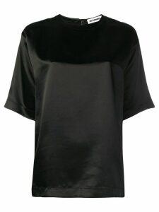 Jil Sander shortsleeved satin blouse - Black