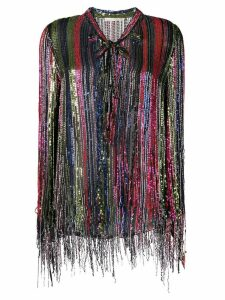 Amen sequinned pussybow blouse - Black