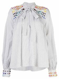 Rosie Assoulin bead embellished blouse - White