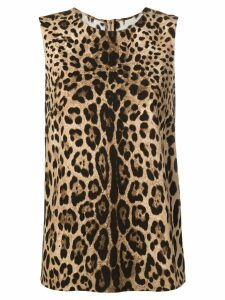 Dolce & Gabbana leopard-print top - Brown