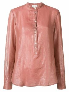 Forte Forte long-sleeve fitted blouse - Pink