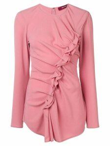 Sies Marjan ruffled front blouse - PINK