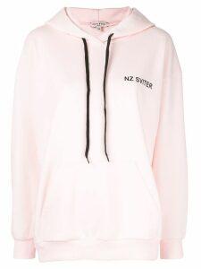 Natasha Zinko contrast drawstring hoodie - Pink