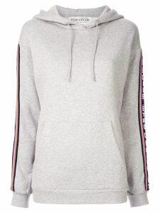 Être Cécile logo stripe hoodie - Grey
