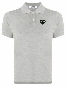 Comme Des Garçons Play heart patch polo shirt - Grey