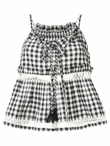 Dodo Bar Or Patricia gingham top - Black