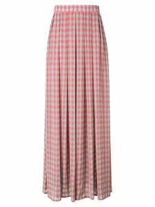 Ultràchic checked pleated skirt - PURPLE