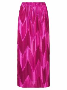 Givenchy zig-zag pleated skirt - PINK