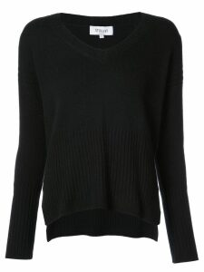Derek Lam 10 Crosby Wooster V-Neck Sweater - Black