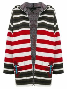 Alanui striped hooded cardigan - Red