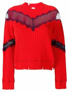 Pinko sheer lace jumper - Red