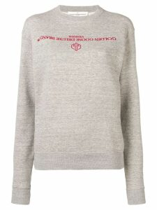 Golden Goose logo sweater - Grey