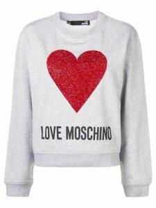 Love Moschino tinsel heart logo sweatshirt - Grey