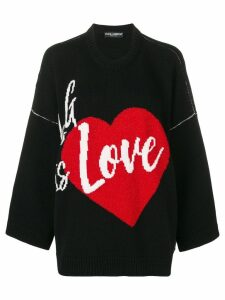 Dolce & Gabbana Love jumper - Black