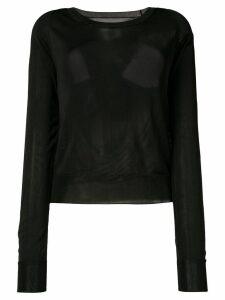 Mm6 Maison Margiela cutout back sweater - Black