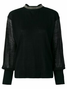 Fabiana Filippi sheer sleeve jumper - Black
