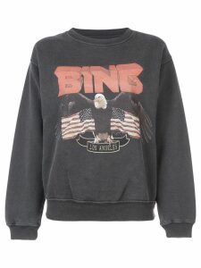 ANINE BING logo patch sweatshirt - Black