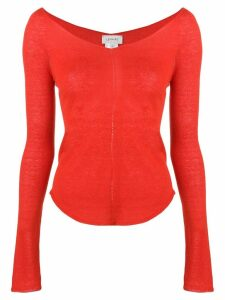 Lemaire v-neck jumper - Red