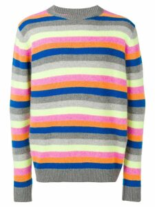 The Elder Statesman cashmere stripe jumper - Grey