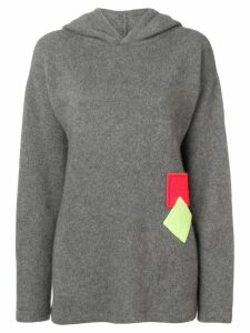The Elder Statesman hooded jumper - Grey