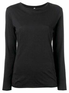 Bellerose long-sleeve fitted top - Black