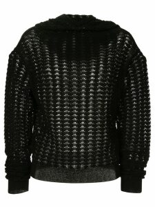 Jil Sander knitted hooded jumper - Black