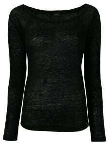 Joseph round neck sweater - Black