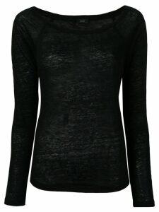 Joseph round neck sweater - Black