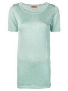 Missoni metallic T-shirt - Blue