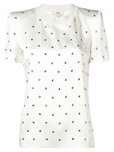 Fendi studded T-shirt - White