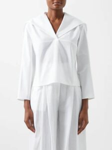 Three Graces London - Prudence Cotton-cheesecloth Dress - Womens - Green