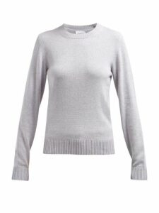 Barrie - Arran Pop Cashmere Sweater - Womens - Light Grey