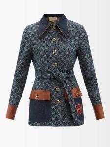 Balmain - Crest Embossed Button Wool Blend Halterneck Dress - Womens - Black