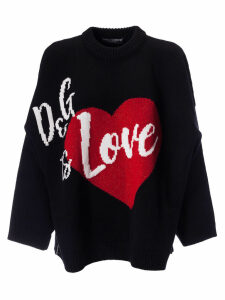 Dolce & Gabbana Love Embroidered Sweater