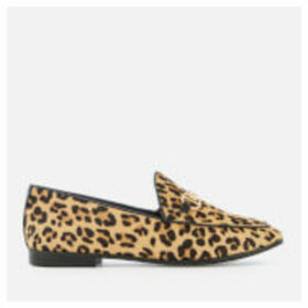 Dune Women's Guiltt Pony Loafers - Leopard - UK 3 - Tan