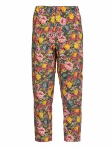 Marni Cropped Trousers With Floral Pattern