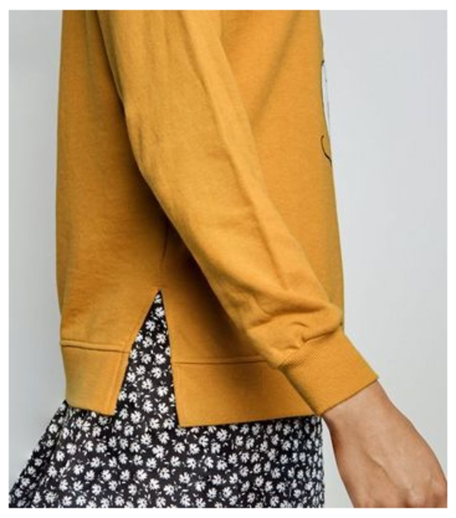 Mustard Disney Mickey Mouse Sweatshirt New Look