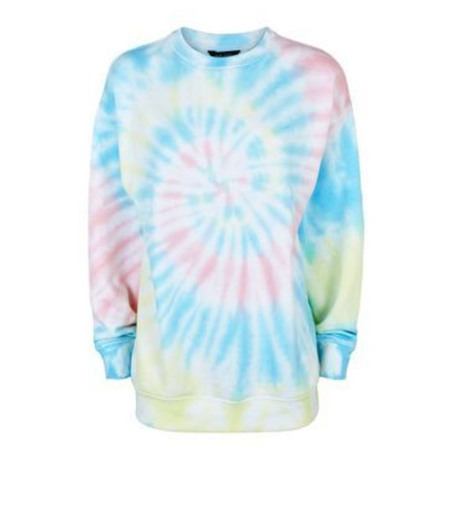 Multicoloured Tie Dye Sweatshirt New Look