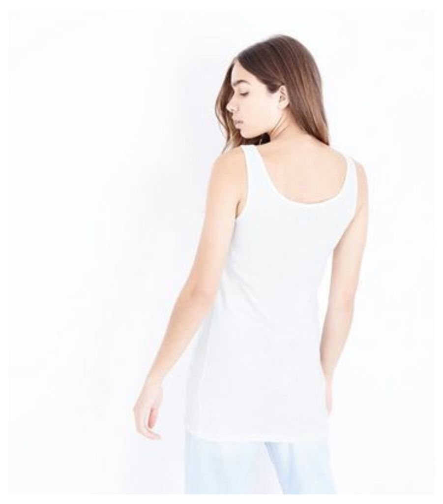Tall 2 Pack White and Grey Scoop Neck Vests New Look