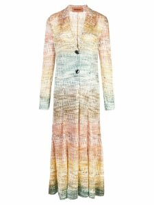 Missoni gradient single breasted coat - Multicolour