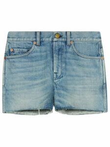 Gucci patch denim shorts - Blue
