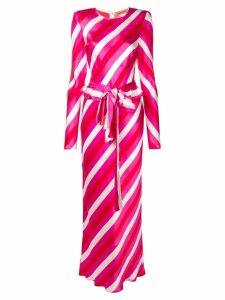 Maggie Marilyn striped long belted dress - Pink