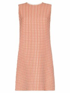 Valentino A-Line Printed Dress - Red