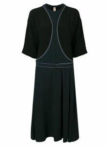 Marni belted midi dress - Blue