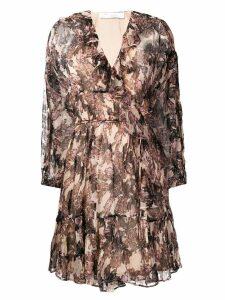 Iro floral ruffle dress - Neutrals
