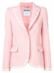 Moschino stitch print fitted blazer - PINK