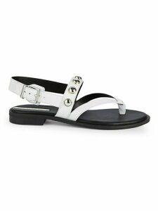 Tama Stud Slingback Leather Sandals