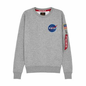Alpha Industries Space Shuttle Grey Cotton-blend Sweatshirt