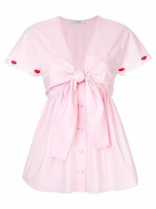 Vivetta lip detail blouse - PINK